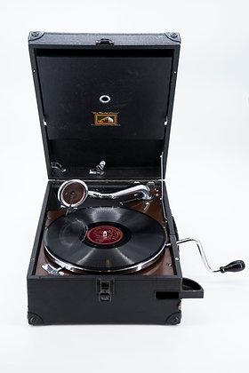 Hmv Portable Hand Wind Gramophone