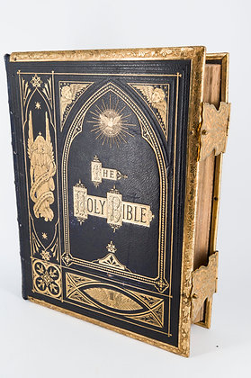 C1850-80 Brown's Self-Interpreting Family Bible, Leather Covered