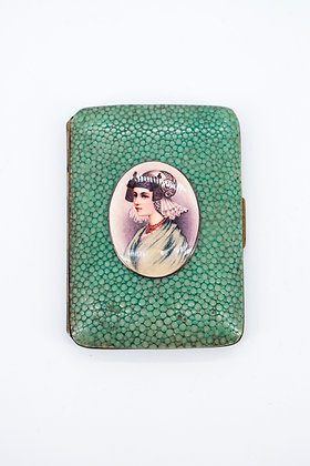 Enamel Portrait Lady Cigarette Case