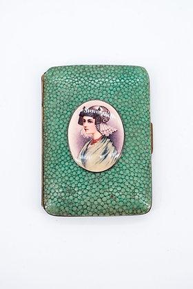 Enamel Portrait Lady Cigarette Case