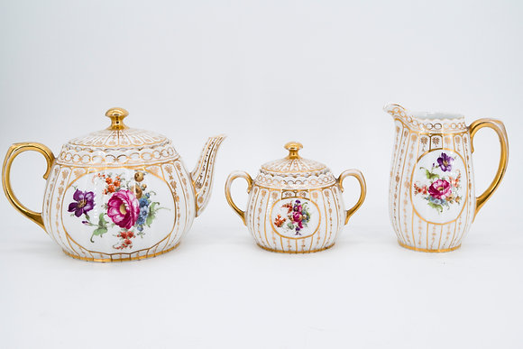 Wurttemberg Germany Porcelain Tea Set