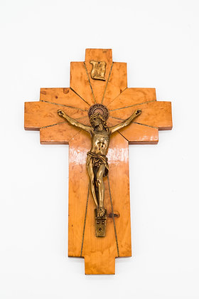 Jesus on Cross Wooden Wall Hanging Crucifix