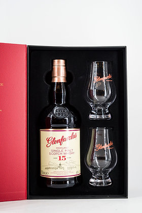 Glenfarclas Highland 15 Years Single Malt (Gift Box with 2 Glasses)