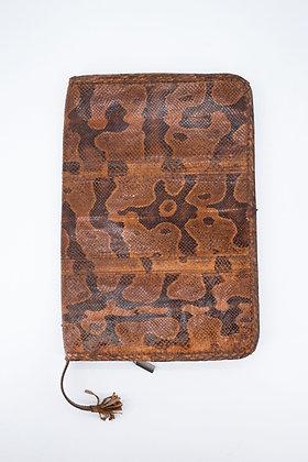Vintage Snake Leather Document/iPad Case
