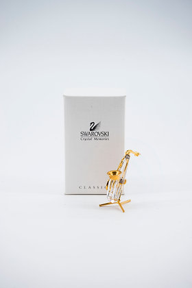 "1995 Swarovski Crystal Memories ""Dedicated to Music"" Series Saxophone"