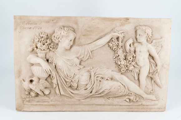 C1875 Marble Plaque by G.Andeoni Italy