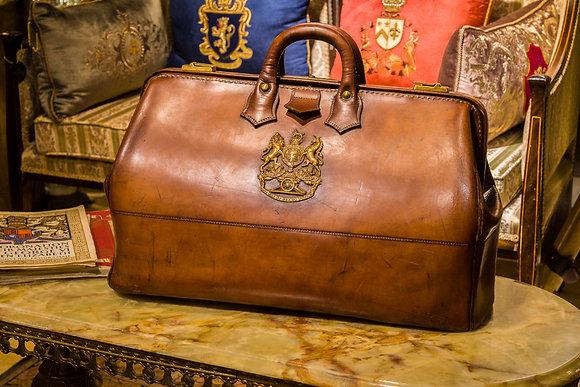 Genuine Leather Duffle Bag c 1900
