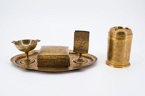 黃銅 印度煙具 5件套