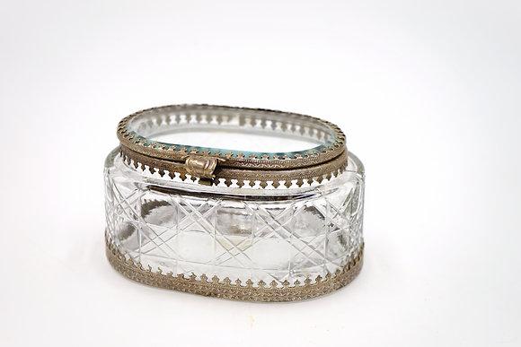 橢圓珠寶盒(銀)