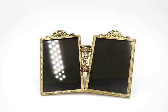 TWIN PHOTO FRAME (GOLD)