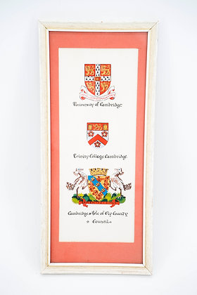 C1965 Hand Painted College Coat of arms