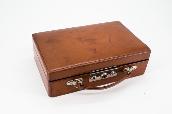 1960's Leather suitcase for Jewellery
