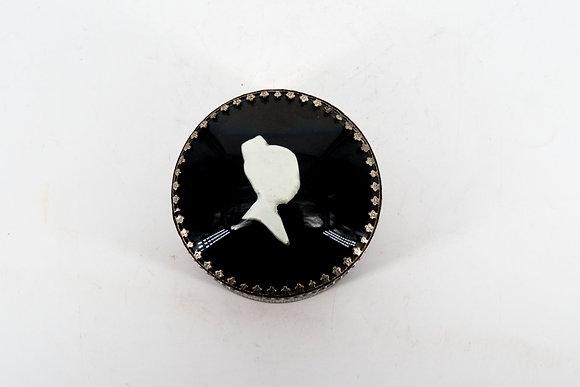 少女圓形金屬盒(銀色)