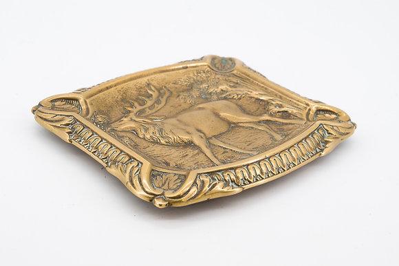 Capra Brass Ashtray/Holder.