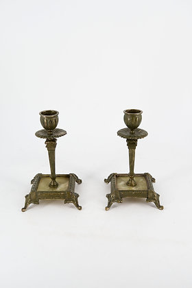 Bronze & Onyx Candle Stand