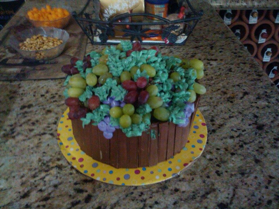 Wine Barrel Birthday Cake