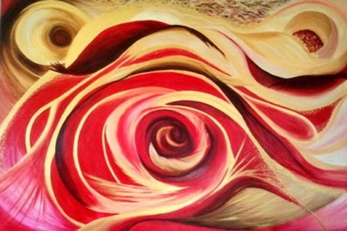 RED&GOLD- A3 digital print