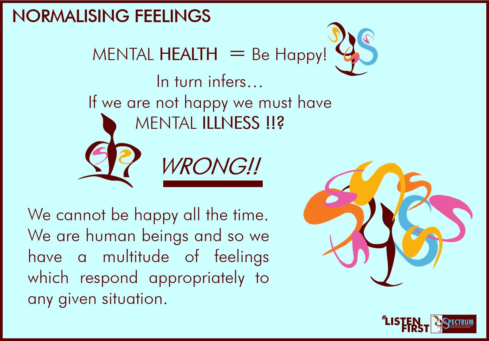 Normalising feelings mental 'health'
