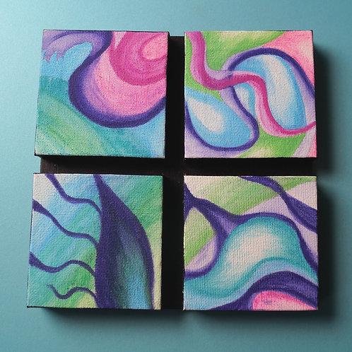 INTERACTIVE ART; Small purple