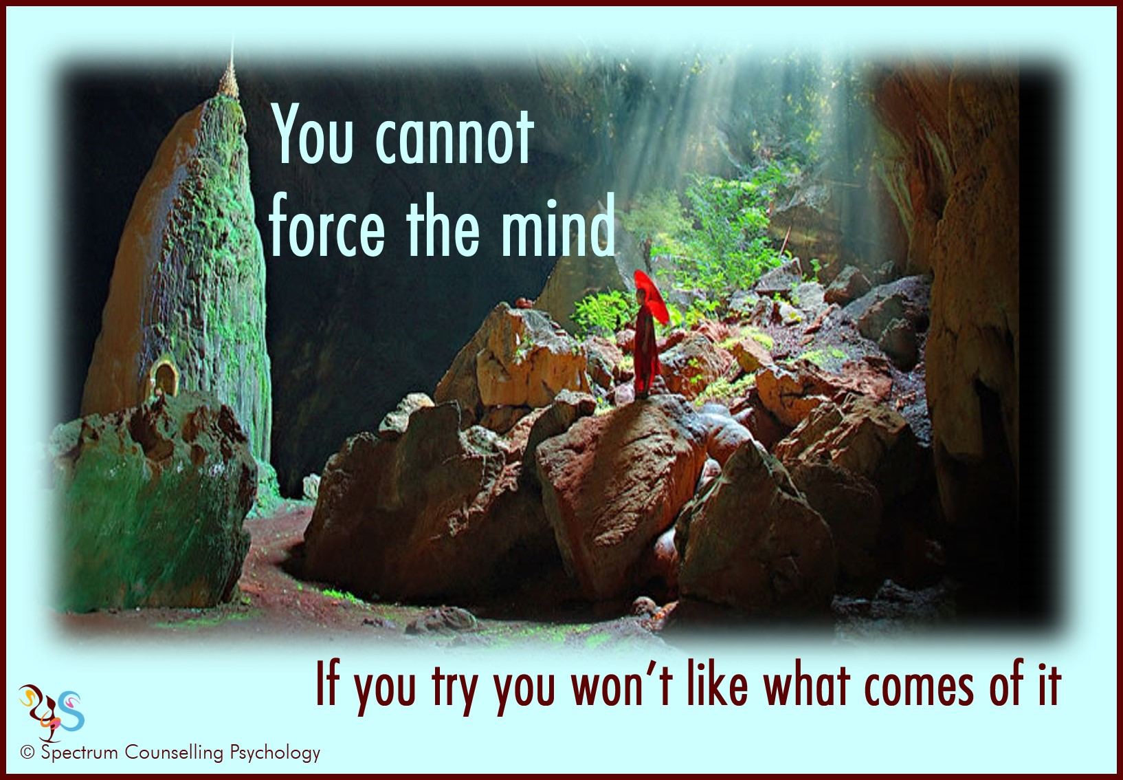 Don't force the mind (the novice)3