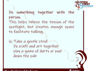 Break the ice by doing something together