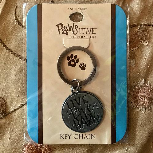 """""""Live Love Bark"""" Keychain"""