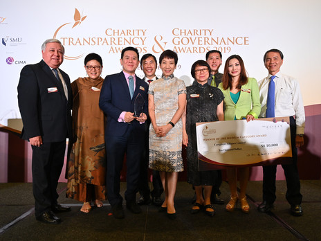 Winner of the Charity Governance and Transparency Awards