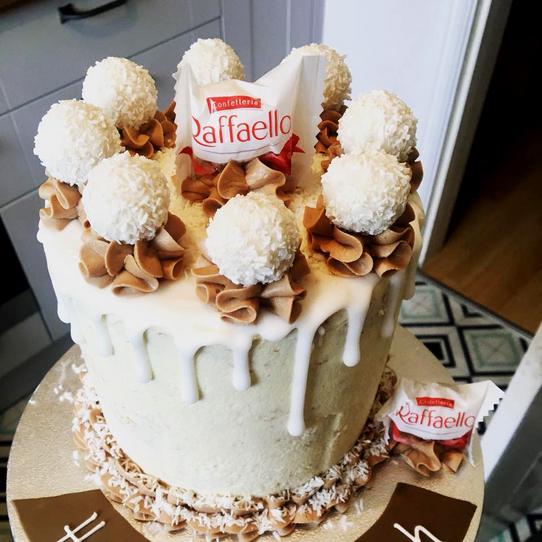 Coconut Drip Cake