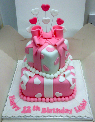 Pink & White Present stack