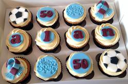 Claret & Blue Cupcakes