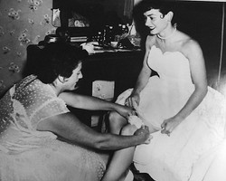 Throw Back Thursday! To June 26th 1954. Evelyn Negri on her wedding day