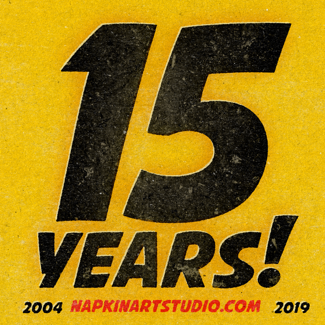 15 Years of Napkin Art Studio!!!