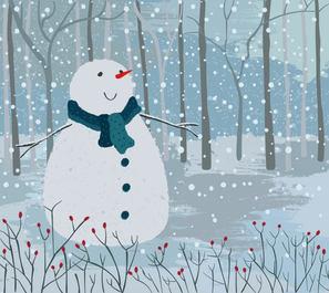 Christmas cards, happy Christmas winter