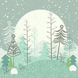 Christmas cards, happy christmas, winter