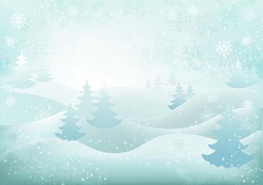 background winter landscape snowflakes c