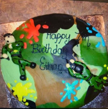 Camo Paintball cake
