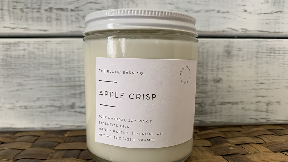 Apple Crisp Soy Wax candle