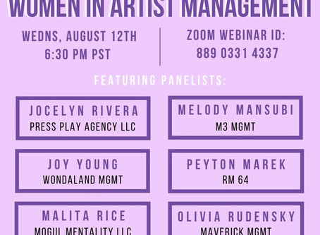 Women in Artist Management Webinar