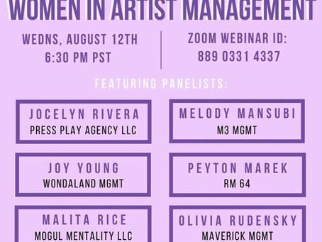 Women in Artist Management Webinar