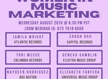 Women in Music Marketing Webinar