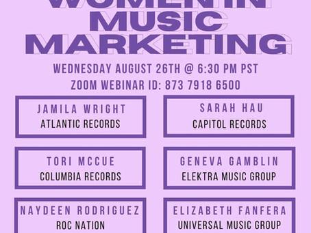 Women in Music Marketing Webinar
