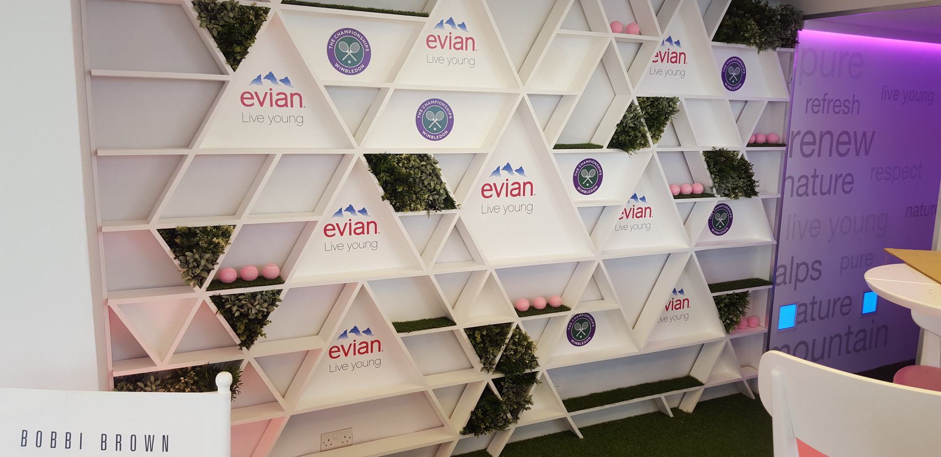 Evian Step and Repeat