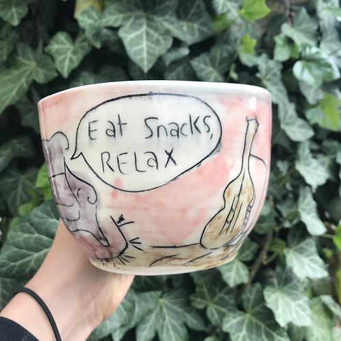 Eat Snacks, Relax Mug