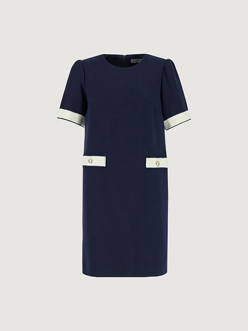 Edy Marella Navy  Dress