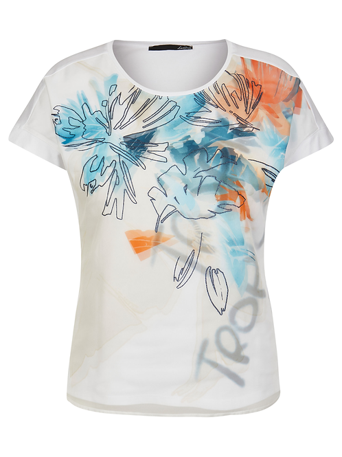 Le Comte White/Print T-Shirt