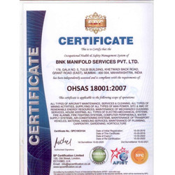 OHSAS Certificate BNK manifold services