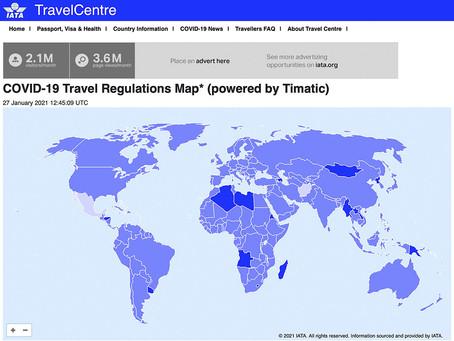 Zemljevid predpisov o potovanjih COVID-19