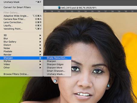PS Filter Shake Reduction - popravek stresene slike