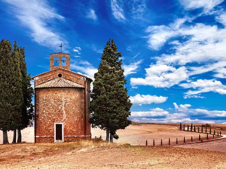 Cerkvica Vitaleta - Toskana