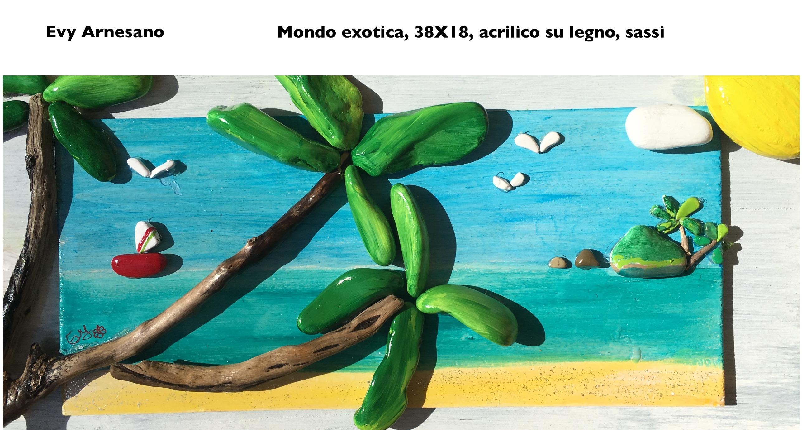 Paesaggio tropicale con palme